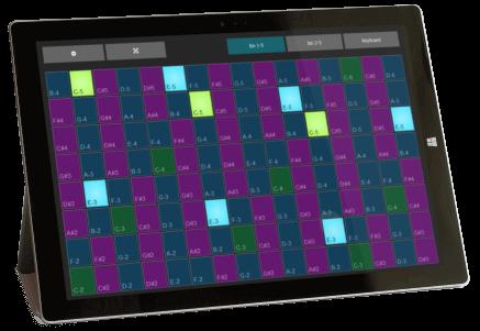 IsoPad - The free Windows touch MIDI keyboard