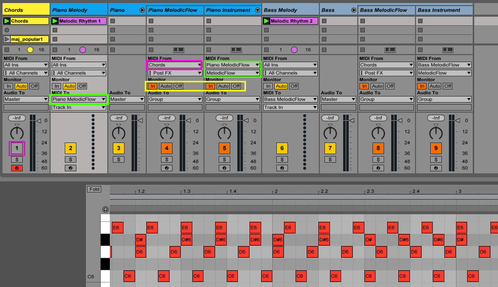 A Chord Master Track With Ableton Live And Melodicflow